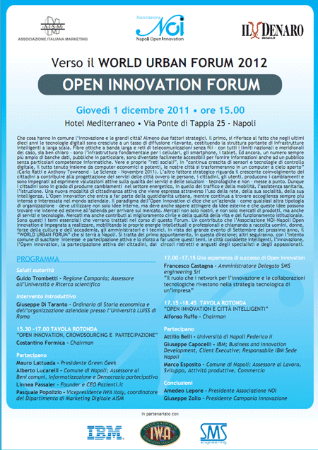 Open Innovation Forum Verso il World Urban Forum 2012